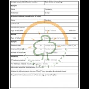Erstellung Probenahmeplan für Brennstoffanlaysen